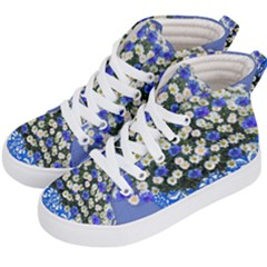 Marguerite Cornflower Vase Blossom Kid s Hi Top Skate Sneakers by Simbadda