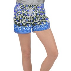 Marguerite Cornflower Vase Blossom Women s Velour Lounge Shorts