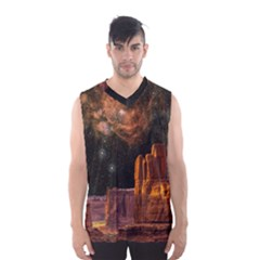 Geology Sand Stone Canyon Men s Basketball Tank Top