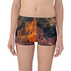 Geology Sand Stone Canyon Reversible Boyleg Bikini Bottoms