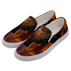Geology Sand Stone Canyon Men s Canvas Slip Ons by Simbadda