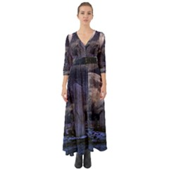 Place Of Worship Scotland Celts Button Up Boho Maxi Dress