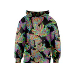 Autumn Pattern Dried Leaves Kids  Pullover Hoodie