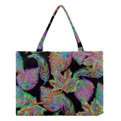 Autumn Pattern Dried Leaves Medium Tote Bag by Simbadda