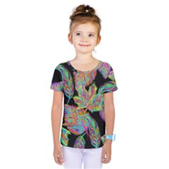 Autumn Pattern Dried Leaves Kids  One Piece Tee