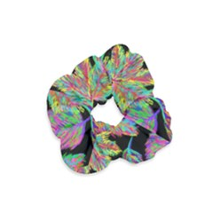 Autumn Pattern Dried Leaves Velvet Scrunchie by Simbadda