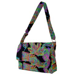 Autumn Pattern Dried Leaves Full Print Messenger Bag by Simbadda