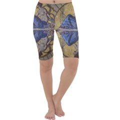 Mosaic Painting Glass Decoration Cropped Leggings