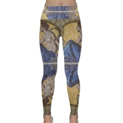 Mosaic Painting Glass Decoration Lightweight Velour Classic Yoga Leggings