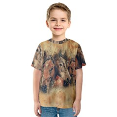 Head Horse Animal Vintage Kids  Sport Mesh Tee