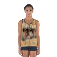 Head Horse Animal Vintage Sport Tank Top
