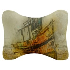 Boat Old Fisherman Mar Ocean Velour Seat Head Rest Cushion