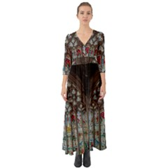 St Martins In The Bullring Birmingham Button Up Boho Maxi Dress