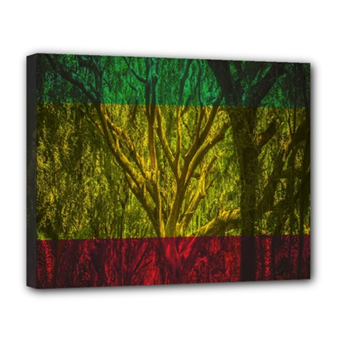 Rasta Forest Rastafari Nature Canvas 14  X 11  (stretched) by Simbadda