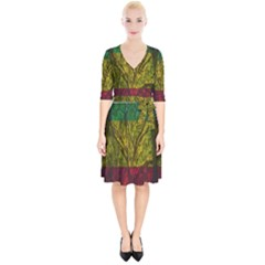 Rasta Forest Rastafari Nature Wrap Up Cocktail Dress