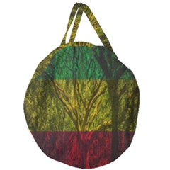 Rasta Forest Rastafari Nature Giant Round Zipper Tote