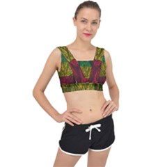 Rasta Forest Rastafari Nature V Back Sports Bra