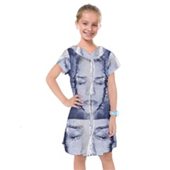 Girl Water Natural Hair Wet Bath Kids  Drop Waist Dress