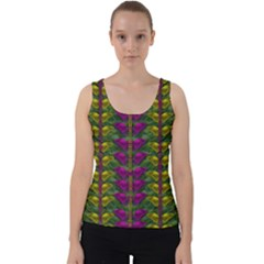 Butterfly Liana Jungle And Full Of Leaves Everywhere Velvet Tank Top