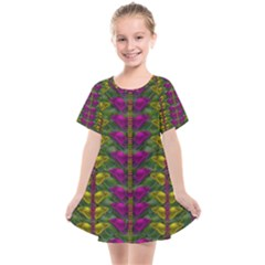 Butterfly Liana Jungle And Full Of Leaves Everywhere Kids  Smock Dress by pepitasart