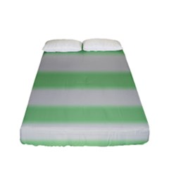 Bold Stripes Soft Green Fitted Sheet (full/ Double Size)