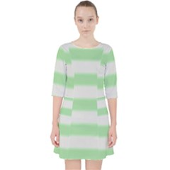 Bold Stripes Soft Green Pocket Dress