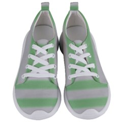 Bold Stripes Soft Green Women s Lightweight Sports Shoes