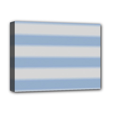 Bold Stripes Soft Blue Deluxe Canvas 16  X 12  (stretched)