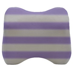 Bold Stripes Soft Purple Pattern Velour Head Support Cushion