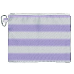 Bold Stripes Soft Purple Pattern Canvas Cosmetic Bag (xxl) by BrightVibesDesign