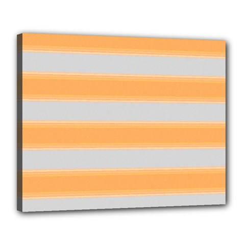 Bold Stripes Yellow Pattern Canvas 20  X 16  (stretched)