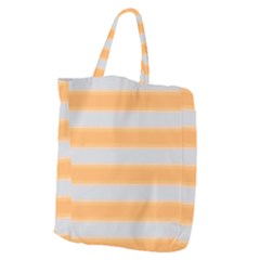 Bold Stripes Yellow Pattern Giant Grocery Tote by BrightVibesDesign