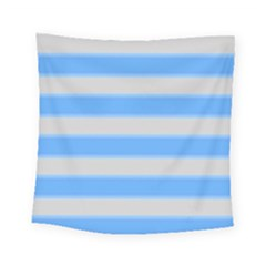 Bold Stripes Bright Blue Pattern Square Tapestry (small) by BrightVibesDesign