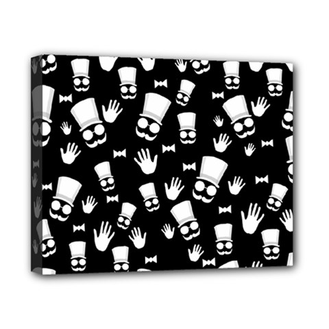 Gentleman Pattern Canvas 10  X 8  (stretched)