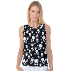 Gentleman Pattern Women s Basketball Tank Top
