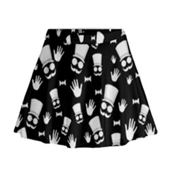 Gentleman Pattern Mini Flare Skirt