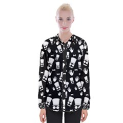 Gentleman Pattern Womens Long Sleeve Shirt