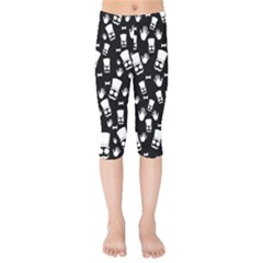 Gentleman Pattern Kids  Capri Leggings