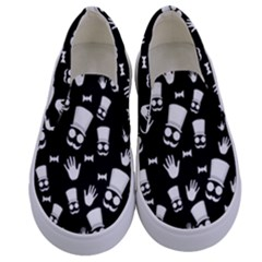 Gentleman Pattern Kids  Canvas Slip Ons