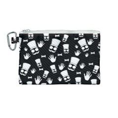 Gentleman Pattern Canvas Cosmetic Bag (medium)