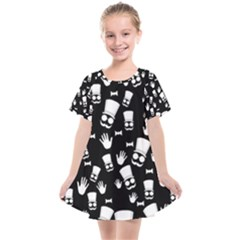 Gentleman Pattern Kids  Smock Dress