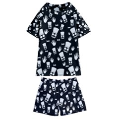 Gentleman Pattern Kids  Swim Tee And Shorts Set