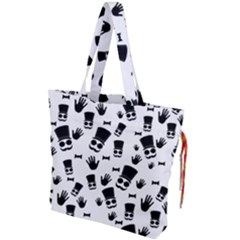 Gentleman Pattern Drawstring Tote Bag