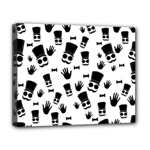 Gentleman Pattern Deluxe Canvas 20  X 16  (stretched)