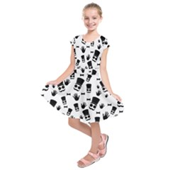 Gentleman Pattern Kids  Short Sleeve Dress