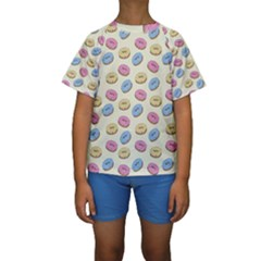 Donuts Pattern Kids  Short Sleeve Swimwear by Valentinaart