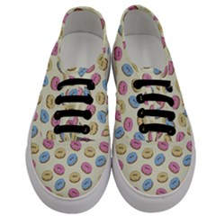 Donuts Pattern Men s Classic Low Top Sneakers