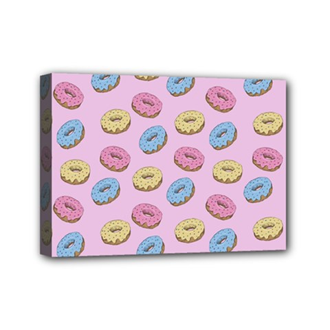 Donuts Pattern Mini Canvas 7  X 5  (stretched) by Valentinaart