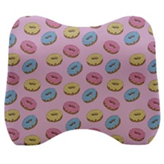 Donuts Pattern Velour Head Support Cushion by Valentinaart