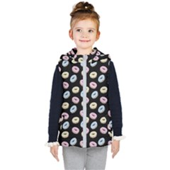 Donuts Pattern Kid s Hooded Puffer Vest